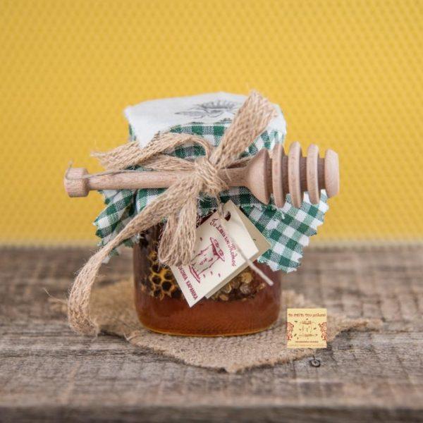 Μέλι Ελάτων με κηρήθρα & μελιέρα 500 γρ.