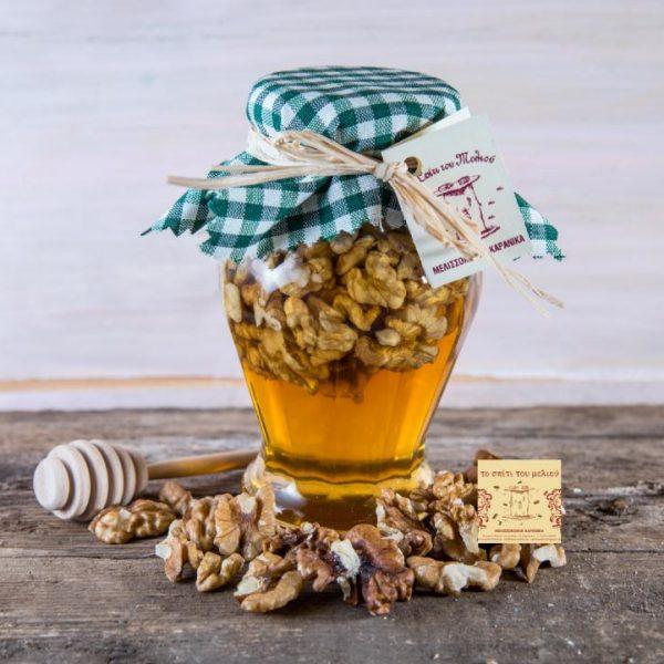 Μέλι Θυμαρίσιο με καρύδια (460gr.)