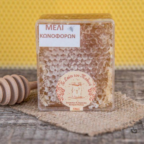 μικρή κηρήθρα κασετίνα Μέλι Κωνοφόρων