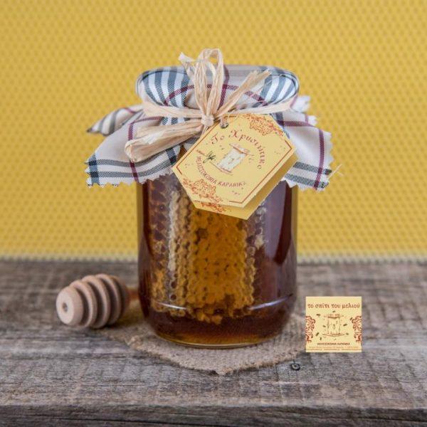 1 kgr. Μέλι Ελάτων κηρήθρα (2)