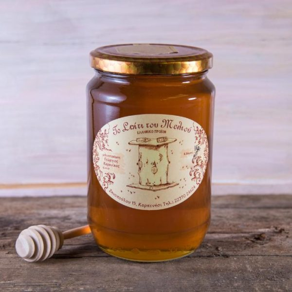 1 kgr. Μέλι Θυμαρίσιο (γυάλινο) (2)