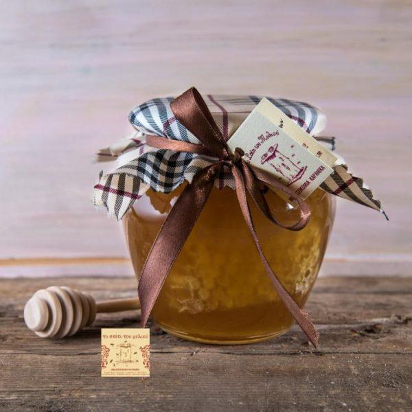 800 γρ. Μέλι Κωνοφόρων με κηρήθρα βάζο (1)